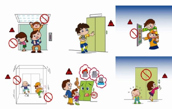 Bạn có hiểu các cảnh báo nguy hiểm bên trong thang máy???