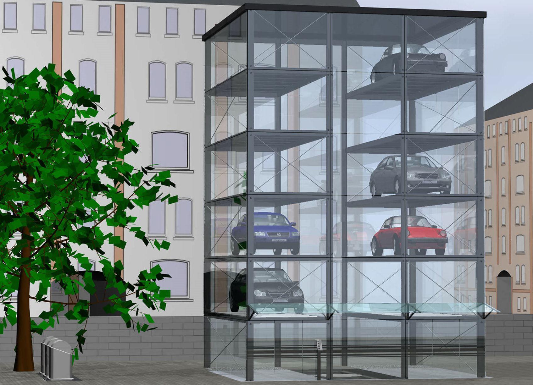 Hệ thống bãi đỗ xe tự động dạng tháp