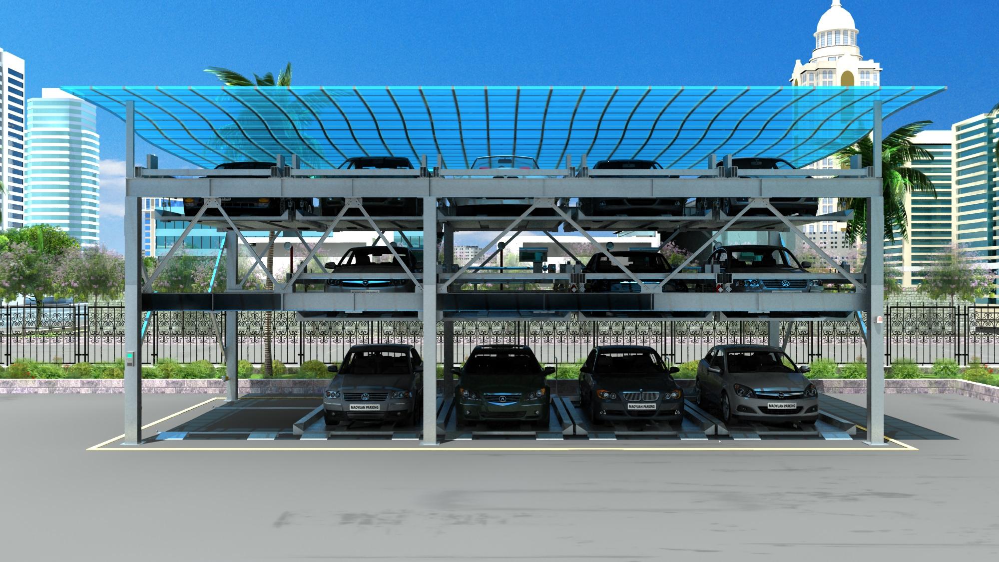 Hệ thống bãi đõ xe tự động dạng xếp hình